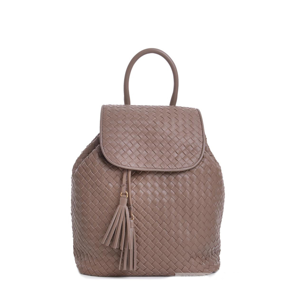 Carbotti woven leather backpack